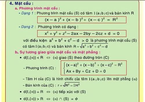 Công thức tọa độ, hình học không gian -1