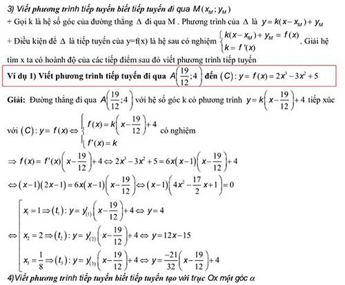viết phương trình tiếp tuyến