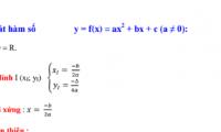 Bài tập chuyên đề khảo sát hàm số bậc 2: y=ax2+bx+c