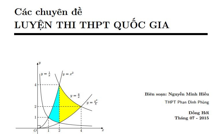 Các chuyên đề luyện thi THPT quốc gia môn Toán - Nguyễn Minh Hiếu