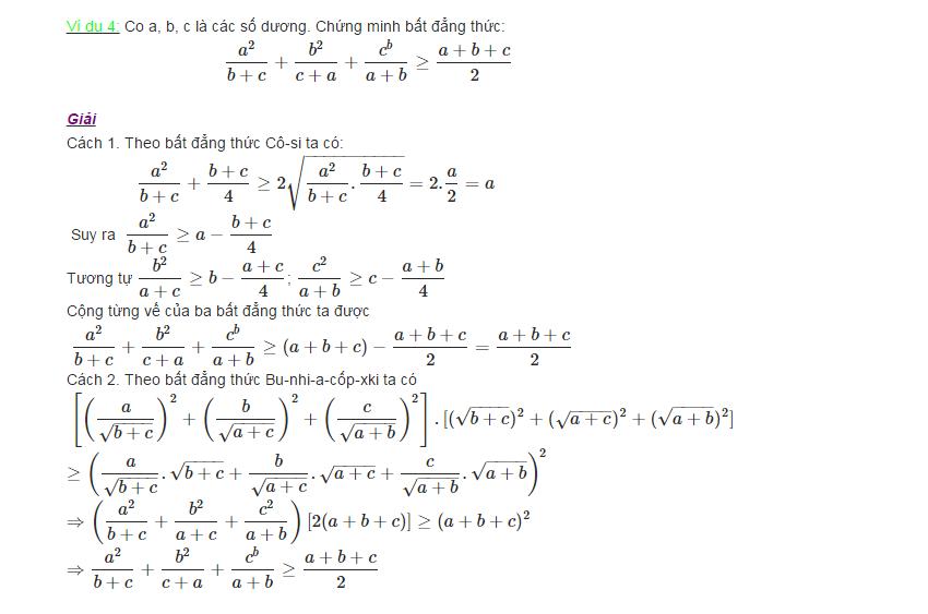 Các phương pháp chứng minh bất đẳng thức-2