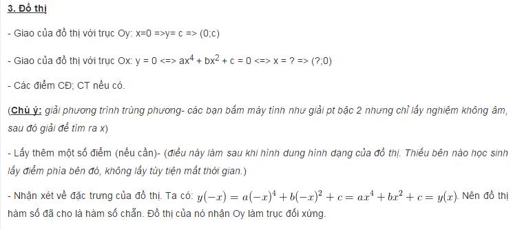 Sơ đồ khảo sát và vẽ đồ thị hàm số trùng phương-1