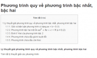 Phương trình quy về phương trình bậc nhất, bậc hai
