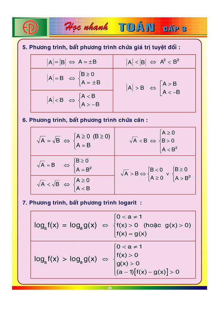công thức toán cấp 3-2