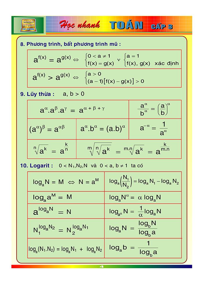 công thức toán cấp 3-3