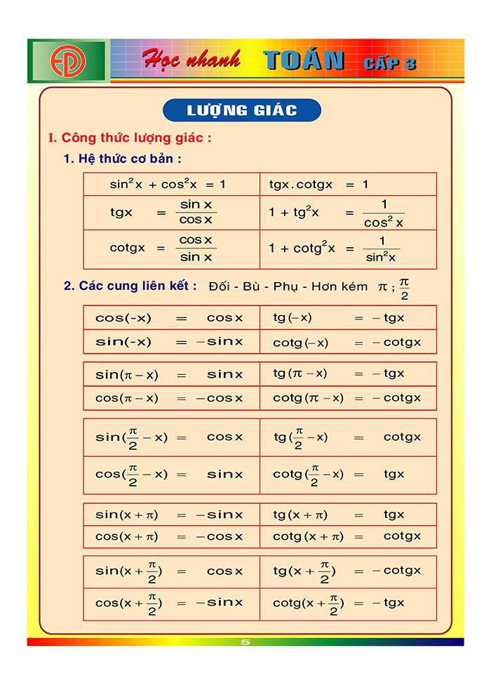 công thức toán cấp 3-4