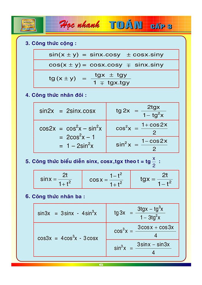 công thức toán cấp 3-5