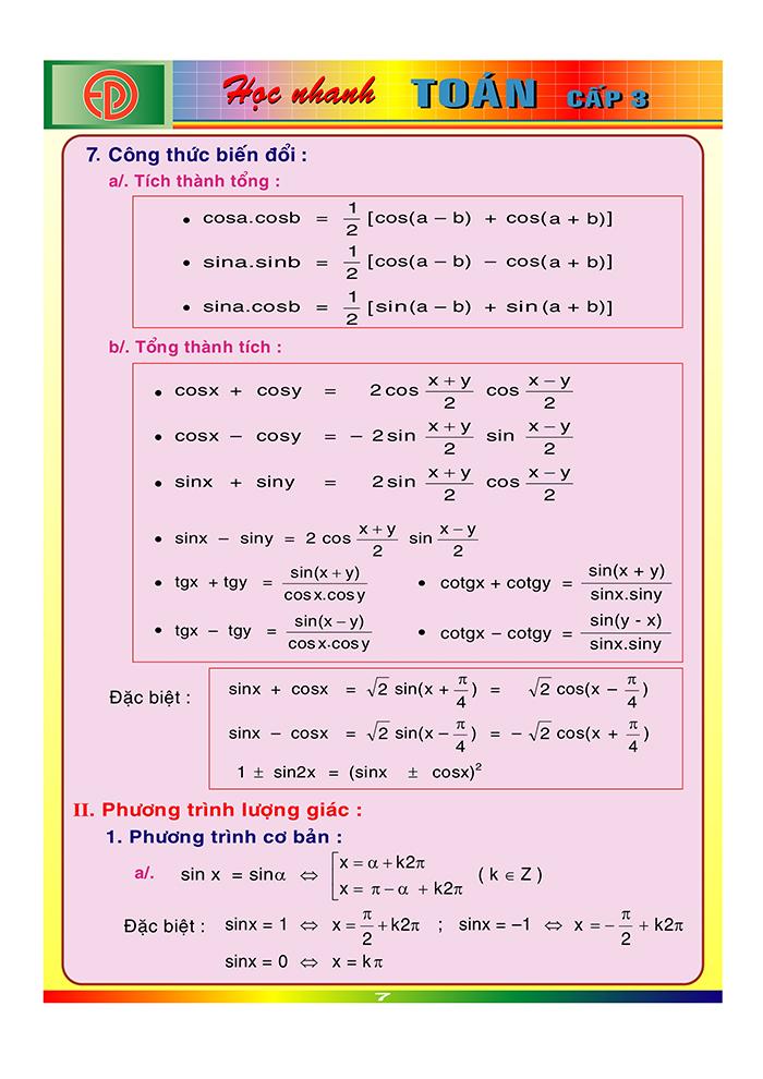 công thức toán cấp 3-6