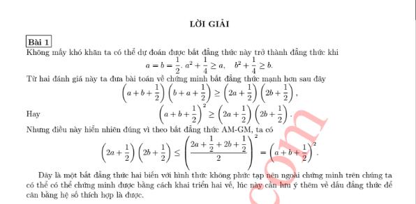 30 bài toán bất đẳng thức hay có lời giải-1
