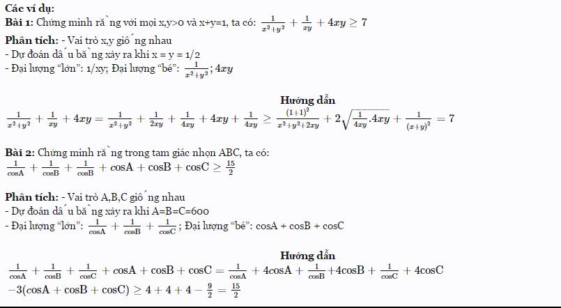 Các kỹ thuật thường dùng để chứng minh bất đẳng thức-1