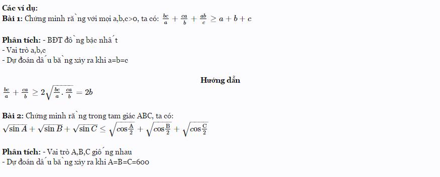 Các kỹ thuật thường dùng để chứng minh bất đẳng thức-2