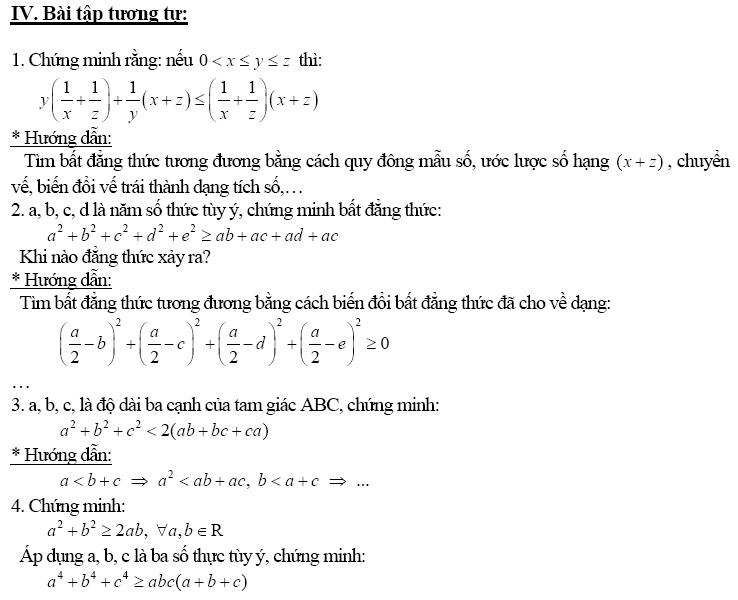 Chứng minh bất đẳng thức bằng phương pháp biến đổi tương đương-11