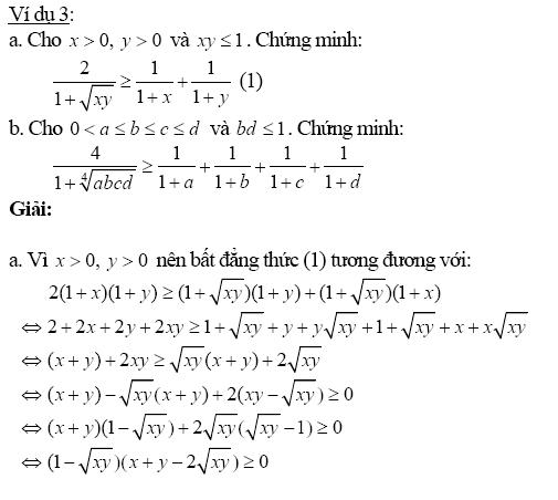 Chứng minh bất đẳng thức bằng phương pháp biến đổi tương đương-3