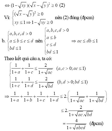 Chứng minh bất đẳng thức bằng phương pháp biến đổi tương đương-4