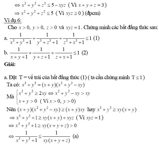 Chứng minh bất đẳng thức bằng phương pháp biến đổi tương đương-6