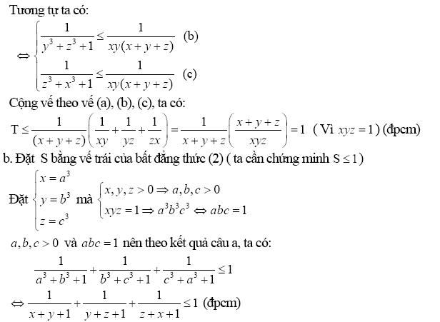 Chứng minh bất đẳng thức bằng phương pháp biến đổi tương đương-7