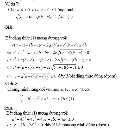 Chứng minh bất đẳng thức bằng phương pháp biến đổi tương đương-8