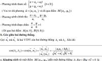 Khái niệm về đường thẳng, phương pháp tọa độ trong mặt phẳng Oxy