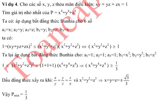 Một vài ứng dụng của bất đẳng thức Bunhiacopxki vào giải toán-1