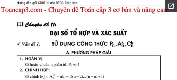Phương pháp chung giải đại số tổ hợp và xác suất (có ví dụ minh họa)