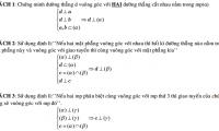Phương pháp chứng minh đường thẳng vuông góc với mặt phẳng