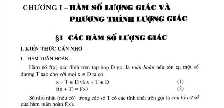 Phương pháp giải bài tập trắc nghiệm đại số và giải tích 11