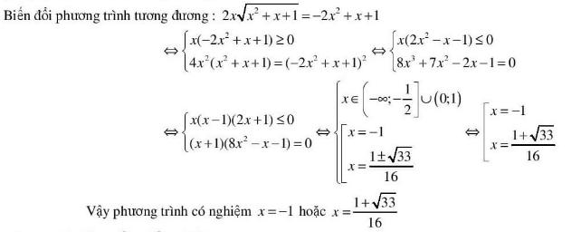 5 kĩ thuật giải phương trình vô tỉ hay dùng