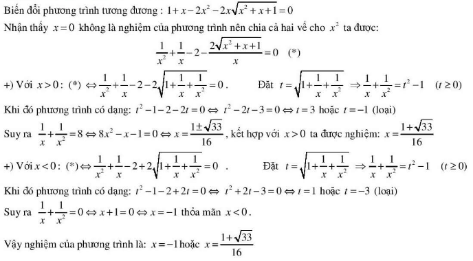 5 kĩ thuật giải phương trình vô tỉ hay dùng-5