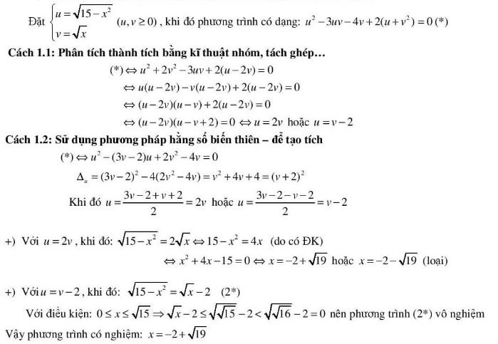 5 kĩ thuật giải phương trình vô tỉ hay dùng-6
