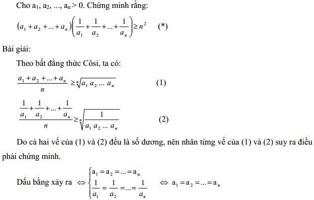 Áp dụng bất đẳng thức Cosi vào giải toán