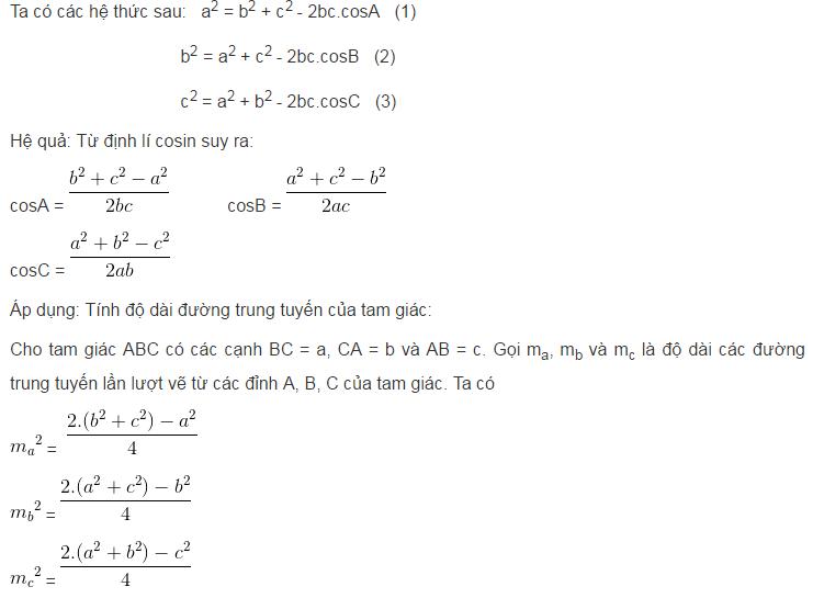 Các hệ thức lượng trong tam giác và giải tam giác-1