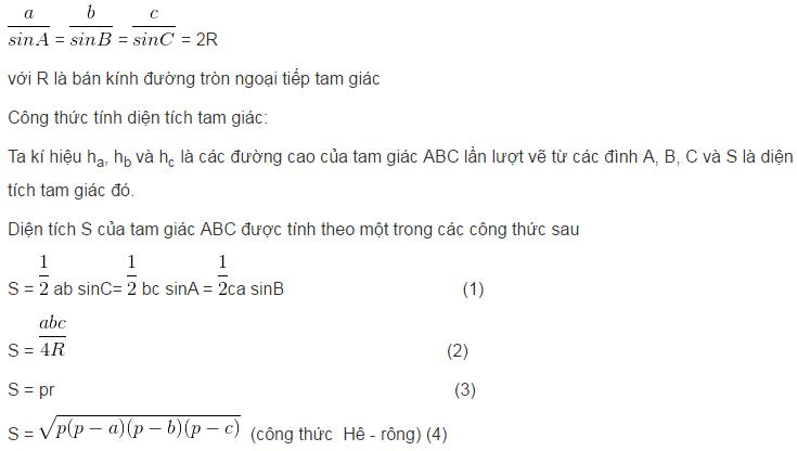 Các hệ thức lượng trong tam giác và giải tam giác-3