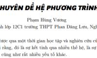 Chuyên đề hệ phương trình - Phạm Hùng Vương