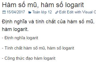 Hàm số mũ, hàm số logarit