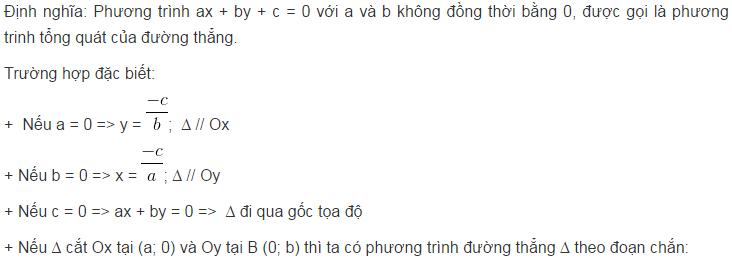 Lý thuyết phương trình đường thẳng-3