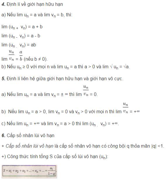 Lý thuyết về giới hạn của dãy số-1