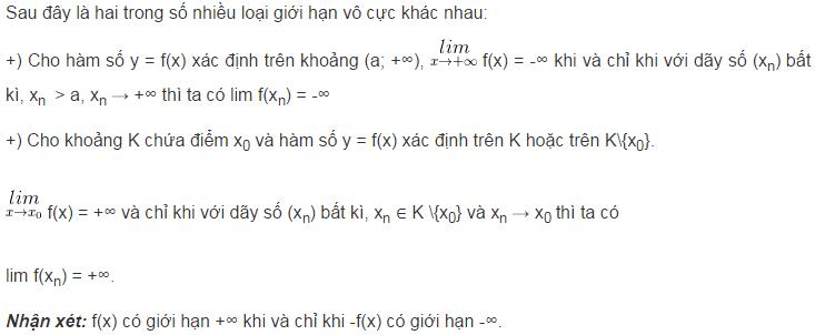 Lý thuyết về giới hạn của hàm số-1