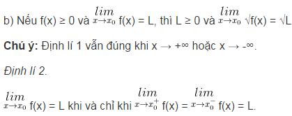 Lý thuyết về giới hạn của hàm số-4