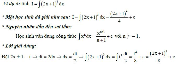 Sai lầm khi giải toán nguyên hàm và tích phân-1