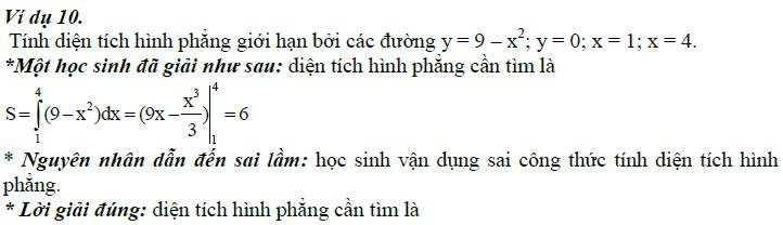 Sai lầm khi giải toán nguyên hàm và tích phân-10