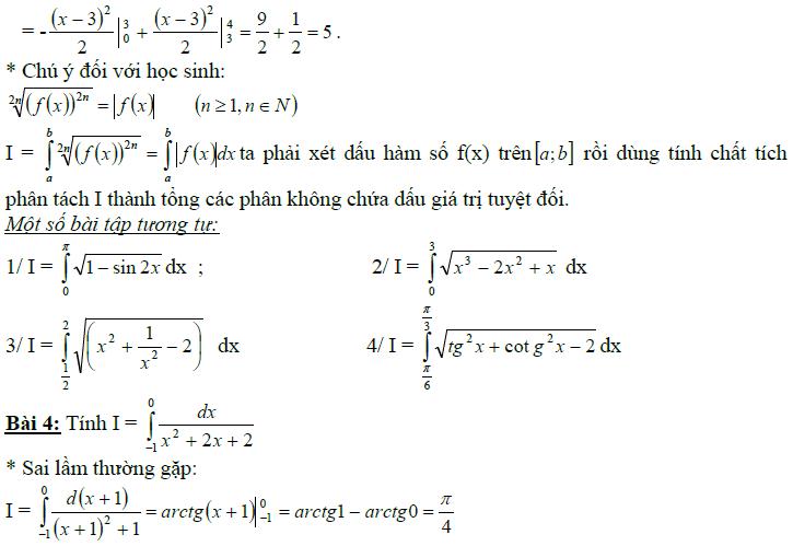 Sai lầm khi giải toán nguyên hàm và tích phân-15