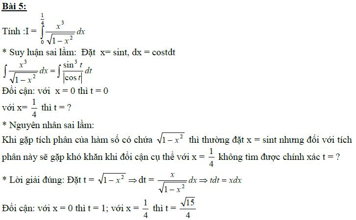 Sai lầm khi giải toán nguyên hàm và tích phân-17