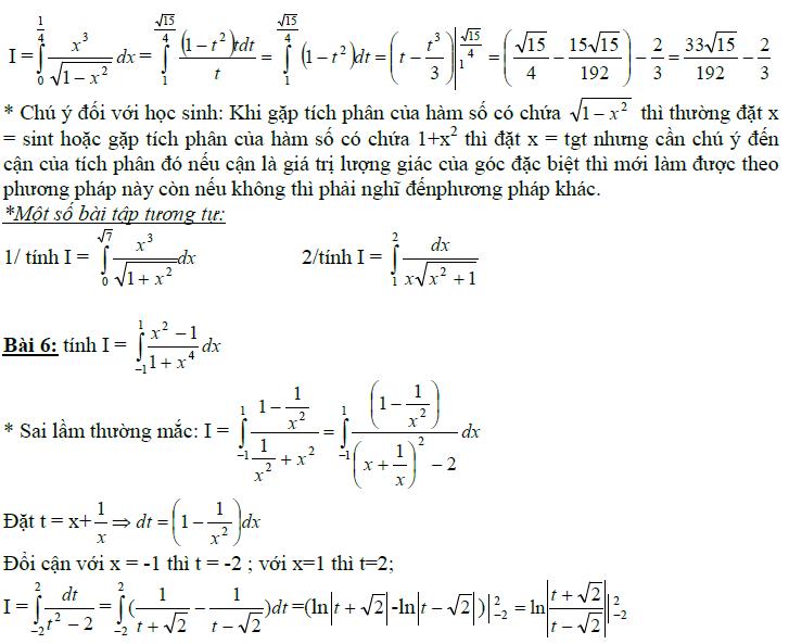 Sai lầm khi giải toán nguyên hàm và tích phân-18