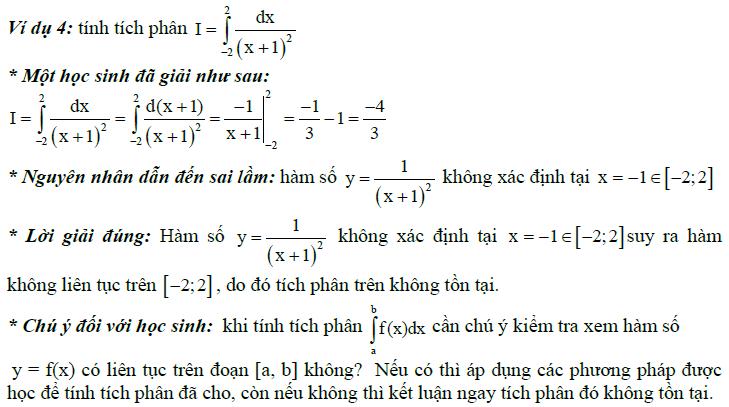 Sai lầm khi giải toán nguyên hàm và tích phân-2
