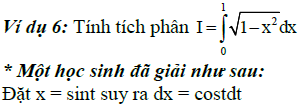 Sai lầm khi giải toán nguyên hàm và tích phân-4