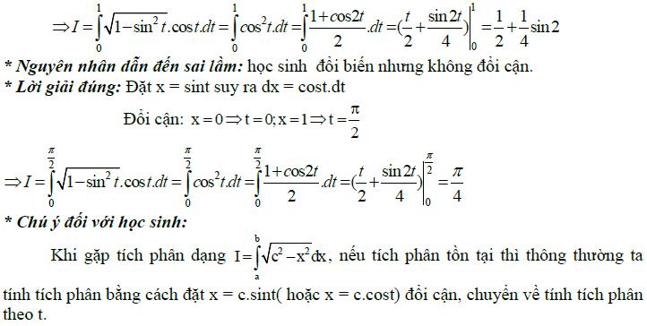 Sai lầm khi giải toán nguyên hàm và tích phân-5