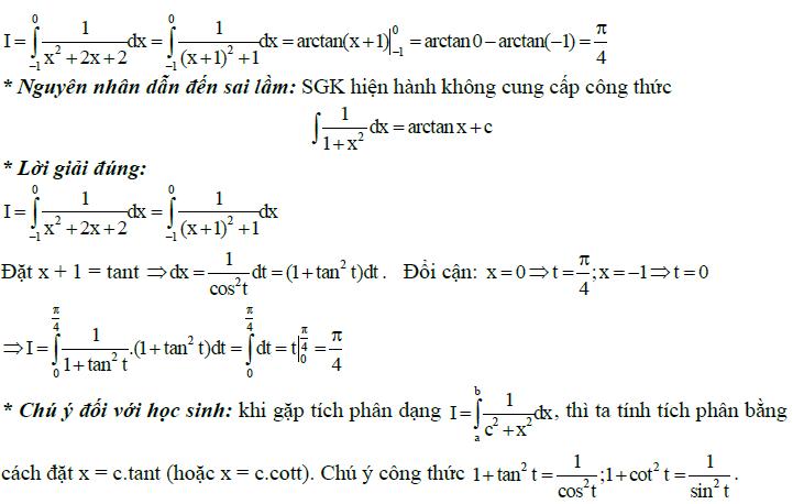 Sai lầm khi giải toán nguyên hàm và tích phân-8