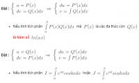 Tính tích phân bằng phương pháp tích phân từng phần