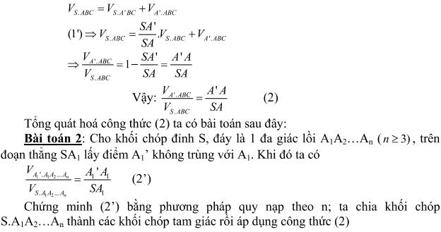 Ứng dụng tỉ số thể tích trong giải toán hình học không gian-1