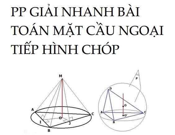 Phương pháp giải nhanh bài toán mặt cầu ngoại tiếp hình chóp